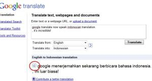 Google Translate Indonesia